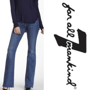 7 for all Mankind Mid-Rise Bootcut Blue Jeans